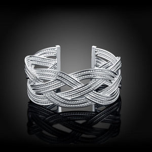 Silver Plated Woven Bracelet