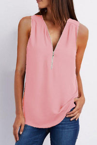 V Neck  Zipper  Plain  Vests