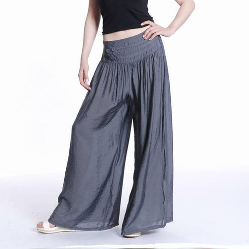 Silk Brocade Wide Leg Pants Trousers Skirt Pants