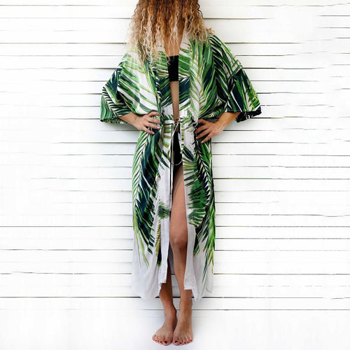 Sexy Floral Print  Cover Ups Vacation Dress