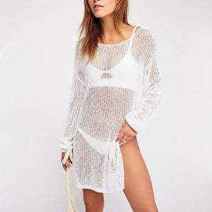 Sexy Knitted Hollow Loose Beachwear