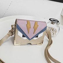 Cartoon Color Block Crossbody Bag