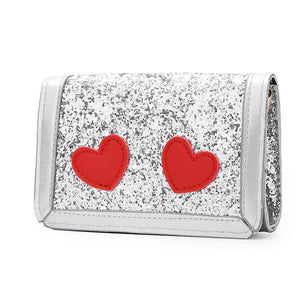 Heart Pattern Sequin Decorated Bag