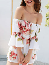 Swwet Style White Floral Printed Jumpsuits