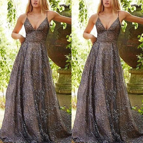 Sexy Strap Sleeveless Long Maxi Dress