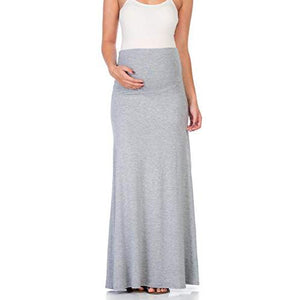 Maternity High Waisted Bottoms Maxi Skirt