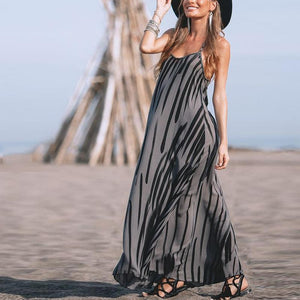 Spaghetti Strap Pocket Plain Maxi Dress