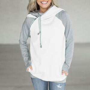 Slanted Zipper Splicing Long Sleeves Hoodie