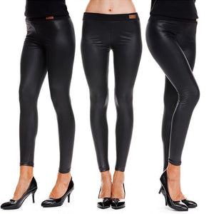 Slim Slimming PU Pants