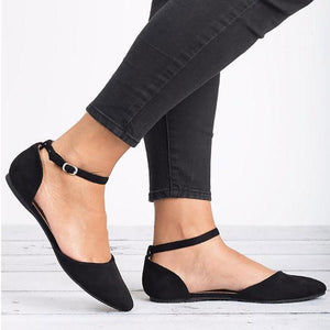 Women Stylish Pointed Toe Large Size Flat Shoes