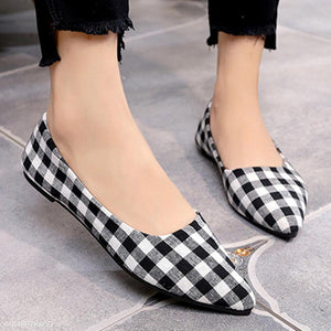 Geometric  Flat  Point Toe  Date Comfort Flats