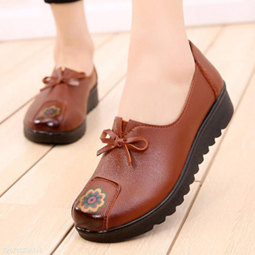Plain  Mid Heeled  Round Toe  Date Outdoor Comfort Flats