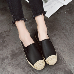 Plain Round Toe Casual Artificial PU Flat & Loafers