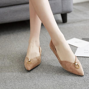 Light Suede Flats