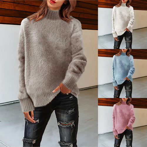 Solid Color Half-High Collar Wild Bottoming Sweater