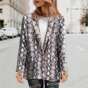 Female Suit Jacket Printed Blazer