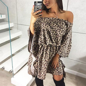 Sexy With An Off-The-Shoulder Leopard Print Mini Dress