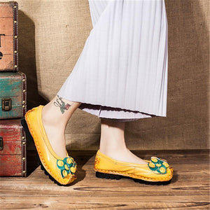 National   Style  Hand-Made Moccasins With Soft   Flat Shoes
