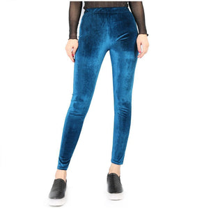 Pure Color Velvet   Pencil Leggings