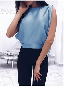 Fashionable Sexy  Backless Blouse With A Bow On The Back