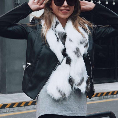 Fashion Warm Faux Fur Plush Scarf Accessories