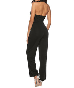 Sexy Off-The-Shoulder Sleeveless Jumpsuit