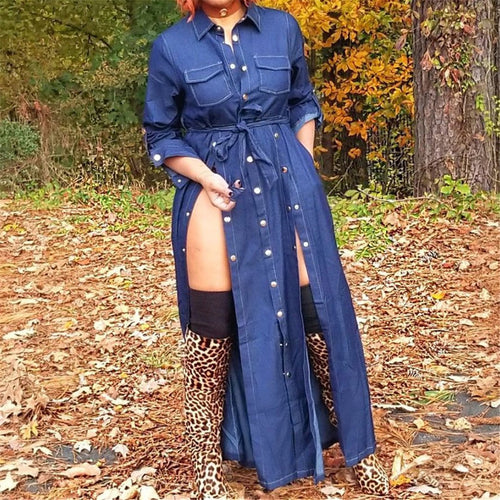 Sexy Split Jeans Irregular Dress