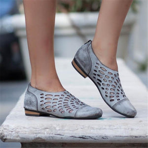 Flat Bottom Zipper Casual Shoes