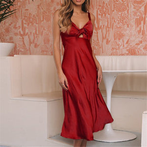 Sexy V Neck Strapless Dress