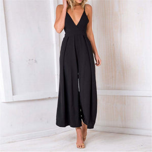 Sexy V Neck Suspender Jumpsuit