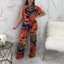 Fashion Sloping Shoulder Printed Colour Sleeveless Suit