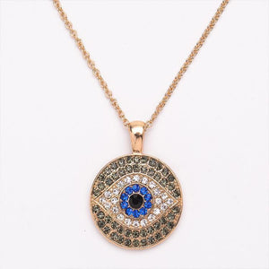 Turkish Blue Eye Chain Necklace