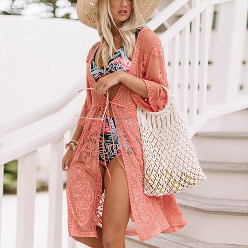 Casual Sexy Deep V   Neck Hollow Out beachwear Mini Dresses
