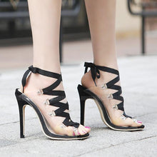Roman Style Transparencies High Heel Pumps