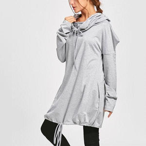 Pure Color Casual   Sport Hooded Bat Hoodie