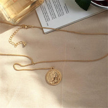 Gold coin simple fashion necklace