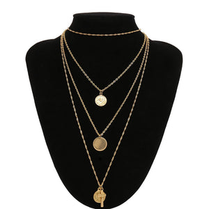 Female fashion simple retro cross pendant necklace