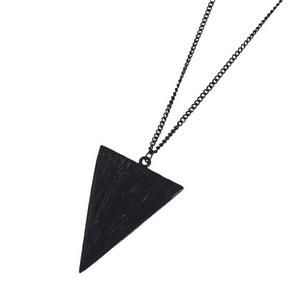 Triangle geometric necklace sweater  chain
