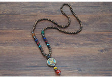 National style wooden beads Nepal beads   necklace