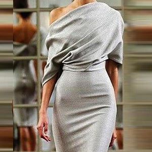 Sexy Off Shoulder Backless Bodycon Dress