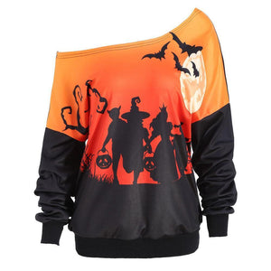Halloween Digital Printing Long Sleeves T-Shirt