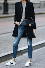 Autumn and winter   fashion pure color warm coat