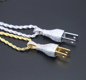Iced Plug Chain Silver & Gold