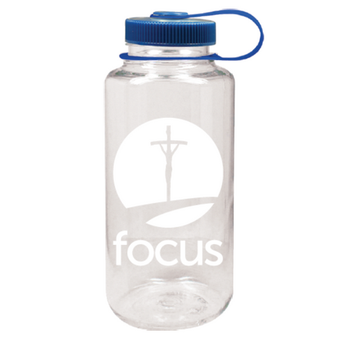 FOCUS Clear Nalgene Water Bottle