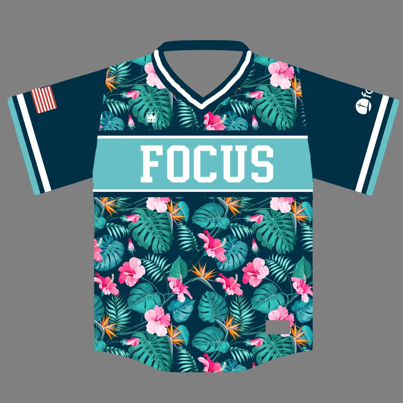 FOCUS V-Neck Baseball Jersey