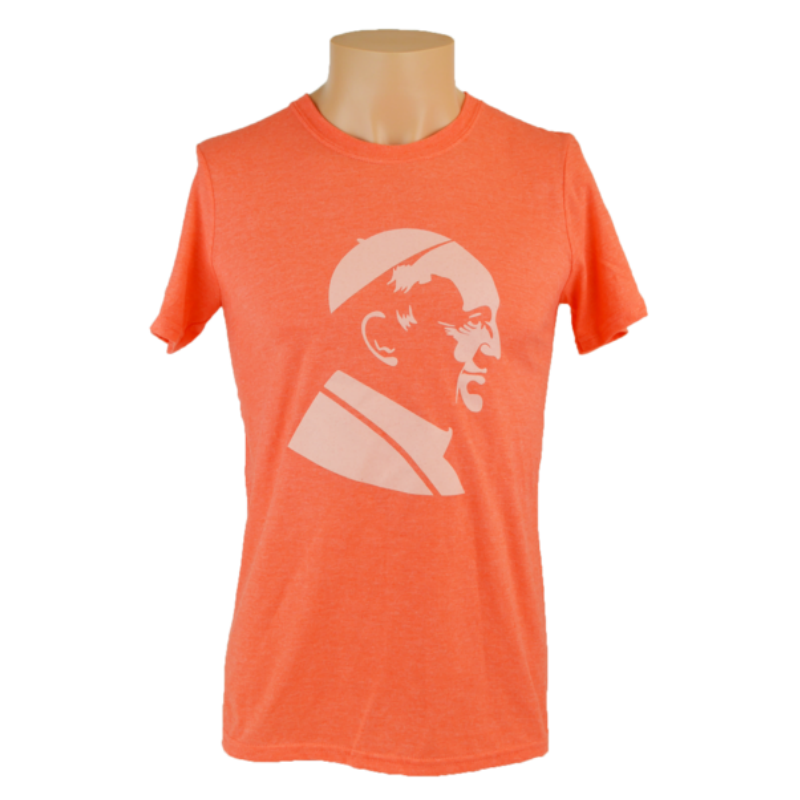 Pope Francis T-Shirt, Heather Orange