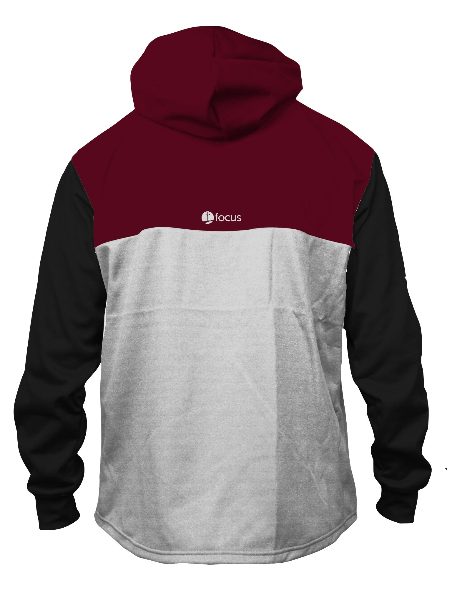 FOCUS Maroon/Black Paneled Quarter Zip