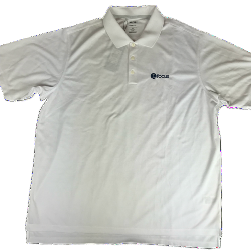 Men's Adidas Climalite Polo, White