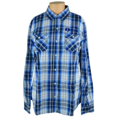 Men's Plaid Long Sleeve Shirt, Taupe