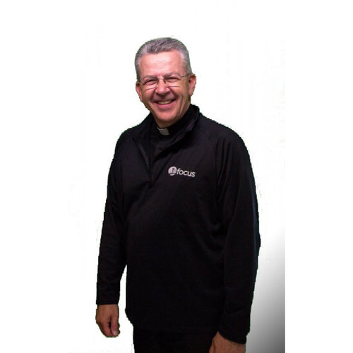 Men's Half Zip Pullover - Black
